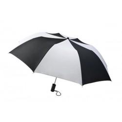 Personalized Black & White 44 inch Arc Barrister Auto-Open Folding Umbrellas