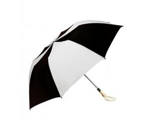 Personalized Black & White 58 inch Arc Traveler Auto- Open Umbrellas