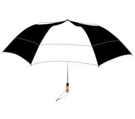 Personalized Black & White 58 inch Arc Vented Little Giant Folding Umbrella