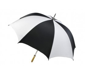 Personalized Black & White 60 inch Arc Pro-Am Golf Umbrellas
