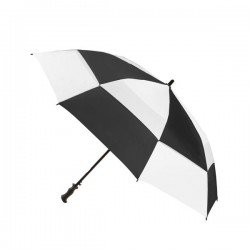Personalized Black & White 68 inch Arc Totes Super Deluxe Premium Golf Umbrellas
