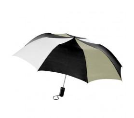 Personalized Black, White & Khaki 60 inch Arc Pro-Am Golf Umbrellas