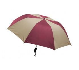 Personalized Burgundy & Khaki 44 inch Arc Barrister Auto-Open Folding Umbrellas