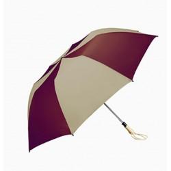 Personalized Burgundy & Khaki 58 inch Arc Traveler Auto- Open Umbrellas