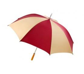 Personalized Burgundy & Khaki 60 inch Arc Pro-Am Golf Umbrellas