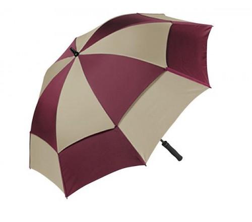 Personalized Burgundy & Khaki 62 inch Arc Wind Tamer Windproof Umbrellas