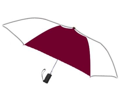 Personalized Burgundy & White 42 inch Arc Spectrum Automatic Folding Umbrellas