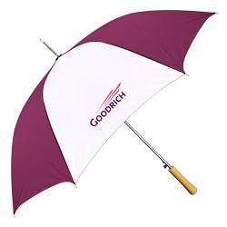 Personalized Burgundy & White 48 inchArc Auto-Open Fashion Umbrellas