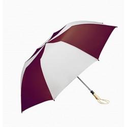 Personalized Burgundy & White 58 inch Arc Traveler Auto- Open Umbrellas