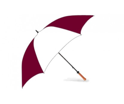 Personalized Burgundy and White 62 inch Hole-in-One Golf Umbrellas