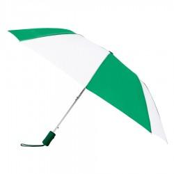 Personalized Evergreen & White 43 inchWind Logo Imprinted Umbrellas