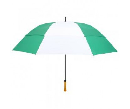 Personalized Evergreen & White 64 inchArc Vented Golf Umbrellas