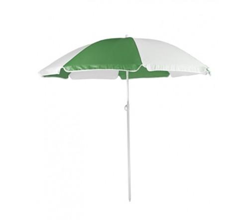 Personalized Forest Green White 72Arc Economy Beach Umbrellas