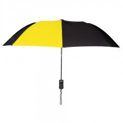 Personalized Gold & Black 43 inch Arc Pakman Umbrellas