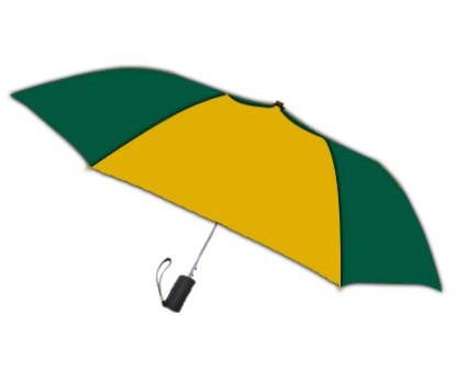 Personalized Hunter and Gold 42 inch Arc Spectrum Automatic Folding Umbrellas