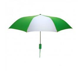 Personalized Kelly Green & White Mini 42 inchArc Logo Umbrellas