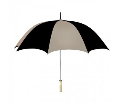 Personalized Khaki & Black 48 inchArc Umbrellas