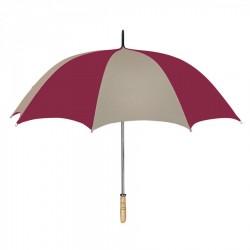 Personalized Khaki & Maroon 60 inchArc Golf Umbrellas