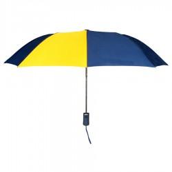 Personalized Navy & Gold 43 inch Arc Pakman Umbrellas