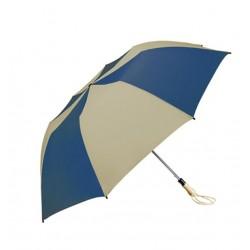 Personalized Navy & Khaki 58 inch Arc Traveler Auto- Open Umbrellas