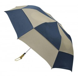 Personalized Navy & Khaki 58 inch Arc Traveler Deluxe Auto- Open Umbrellas