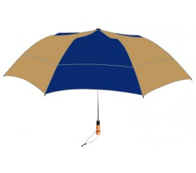 Personalized Navy & Khaki 58 inch Arc Vented Little Giant Folding Umbrella