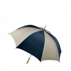 Personalized Navy & Khaki 60 inch Arc Pro-Am Golf Umbrellas