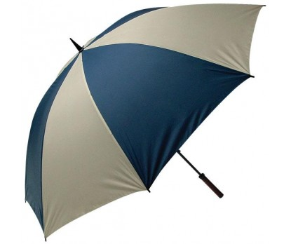 Personalized Navy & Khaki 62'' Arc Golf Umbrellas