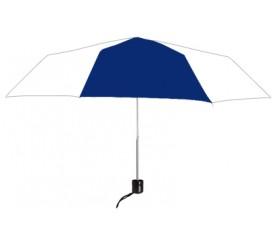 Personalized Navy & White 41 inchArc Econo Folding Umbrellas