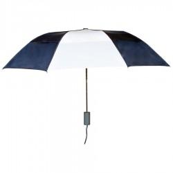 Personalized Navy & White 43 inch Arc Raindrop Umbrellas