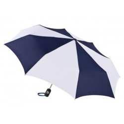 Personalized Navy & White 43 inch Arc Totes Auto-Open/Close Umbrellas