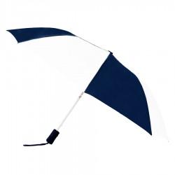 Personalized Navy & White 43 inchWind Logo Imprinted Umbrellas