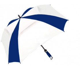 Personalized Navy & White 62 inchArc Vented Square Deal Umbrellas