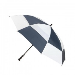 Personalized Navy & White 68 inch Arc Totes Super Deluxe Premium Golf Umbrellas