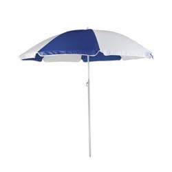 Personalized Navy & White 72 inchArc Economy Beach Umbrellas
