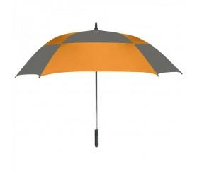 Personalized Orange & Gray 60 inchArc Square Umbrellas
