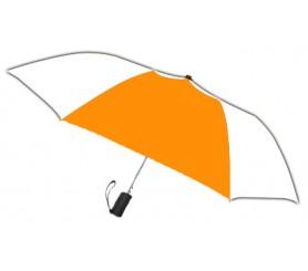 Personalized Orange & White 42 inch Arc Spectrum Automatic Folding Umbrellas