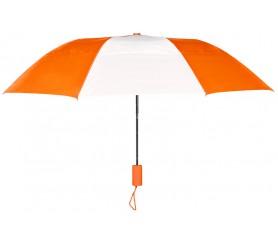 Personalized Orange & White 43 inch Arc Raindrop Umbrellas