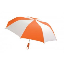 Personalized Orange & White 44 inch Arc Barrister Auto-Open Folding Umbrellas