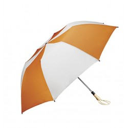 Personalized Orange & White 58 inch Arc Traveler Auto- Open Umbrellas