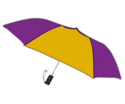 Personalized Purple & Gold 42 inch Arc Spectrum Automatic Folding Umbrellas