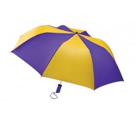 Personalized Purple & Gold 44 inch Arc Barrister Auto-Open Folding Umbrellas