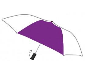 Personalized Purple & White 42 inch Arc Spectrum Automatic Folding Umbrellas