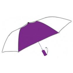 Personalized Purple & White 42 inch Arc Windproof Vented Auto - Open Umbrellas