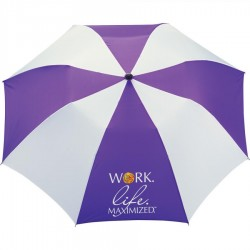 Personalized Purple & White 42 inchArc Printed Umbrellas
