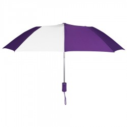 Personalized Purple & White 43 inch Arc Pakman Umbrellas