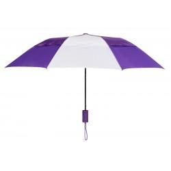 Personalized Purple & White 43 inch Arc Raindrop Umbrellas