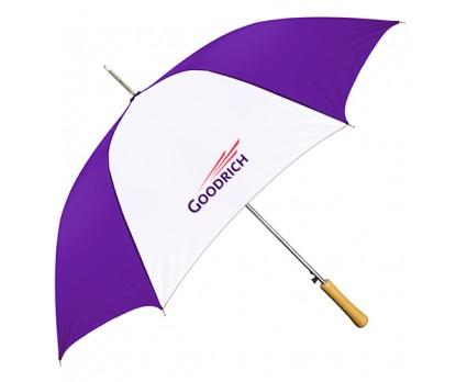 Personalized Purple & White 48 inchArc Auto-Open Fashion Umbrellas