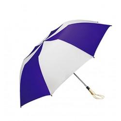 Personalized Purple & White 58 inch Arc Traveler Auto- Open Umbrellas