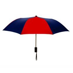 Personalized Red & Navy Mini 42 inchArc Logo Umbrellas